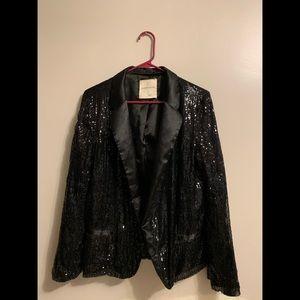 Super Comfortable Black Sequin Blazer